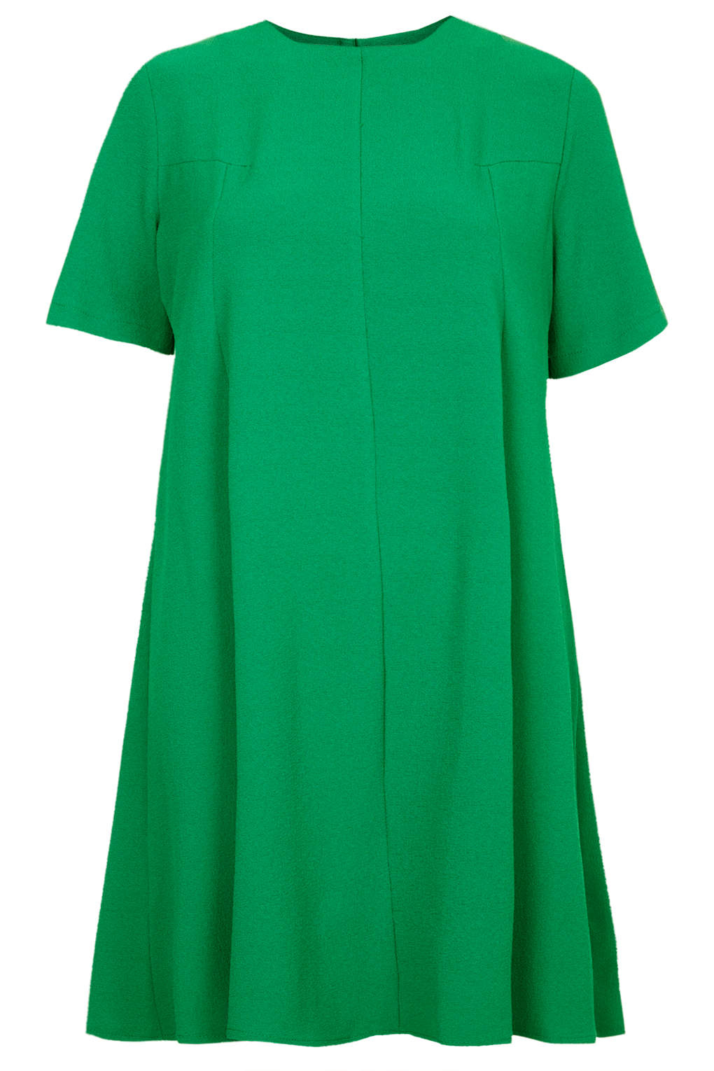Topshop Crepe Fit And Flare Dress In Green Forest Lyst