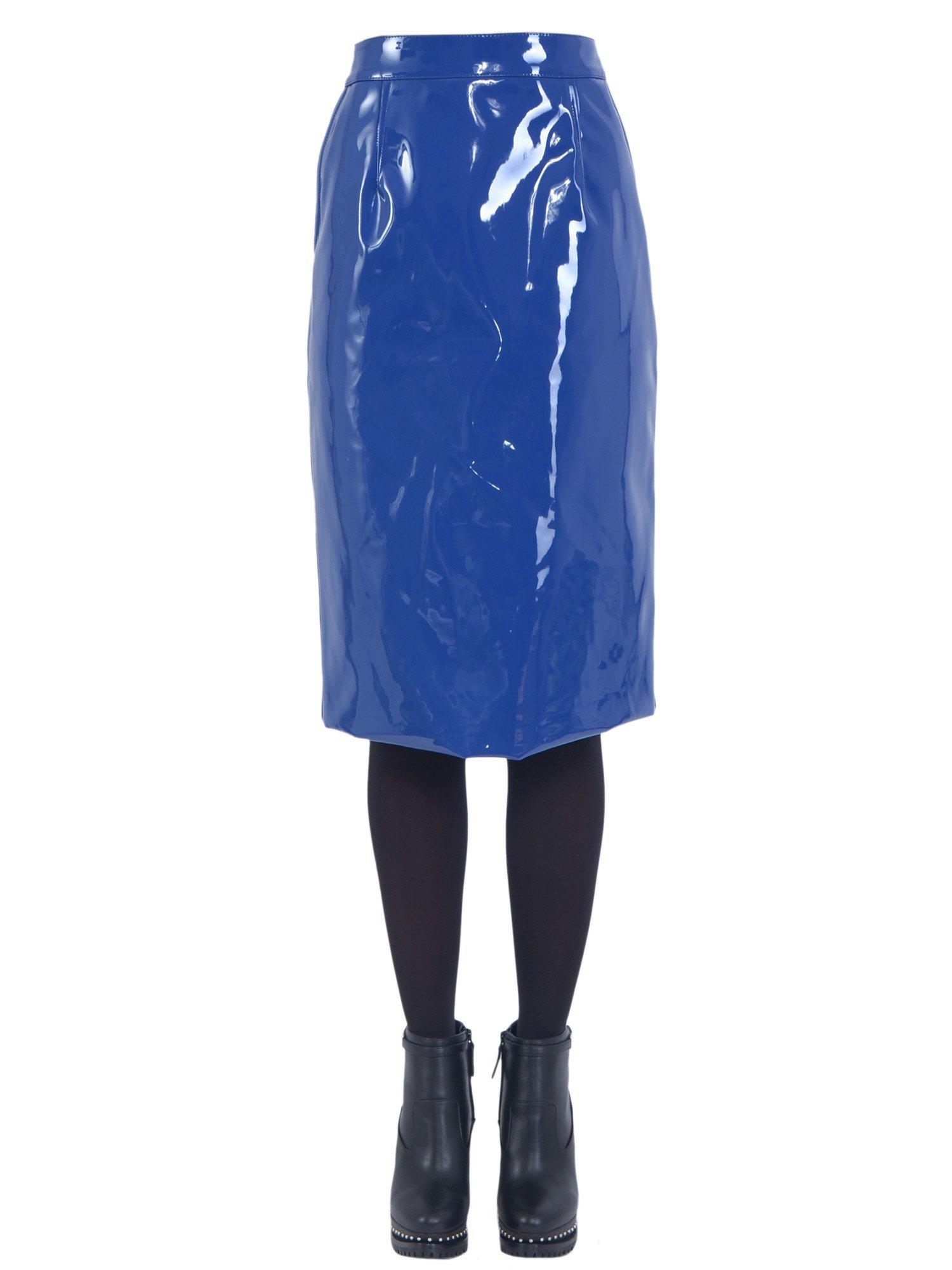 marc by marc vinyl skirt in blue lyst