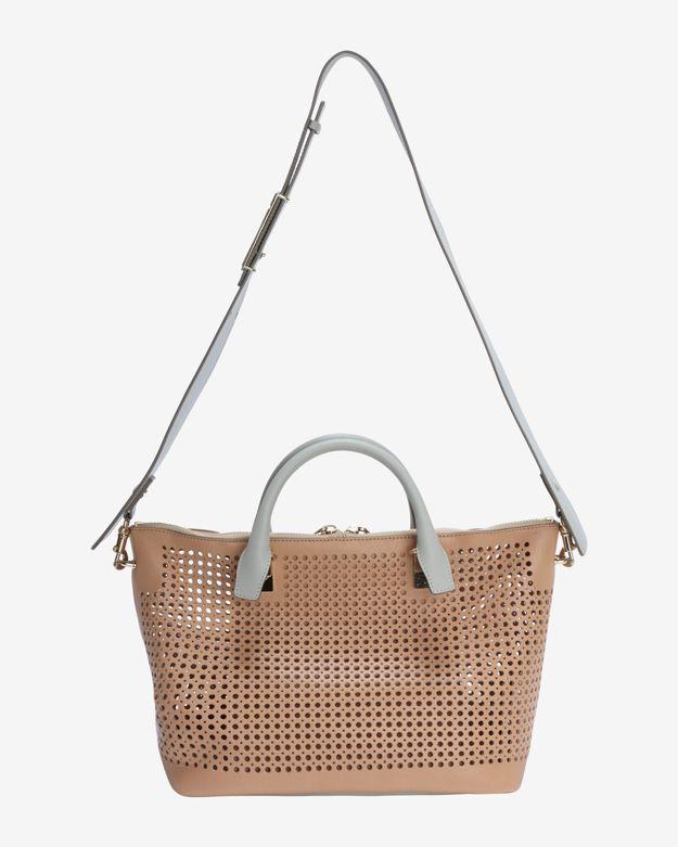 chloe purse - chloe baylee medium perforated leather satchel, chloe bag online