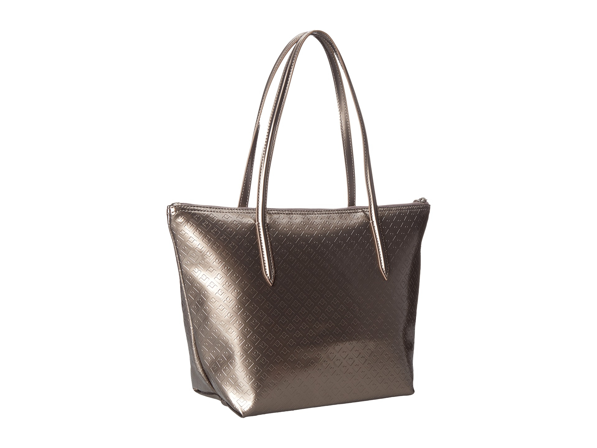 db822b423d4 Lacoste L.12.12 Concept Shiny Tote Bag in Metallic - Lyst