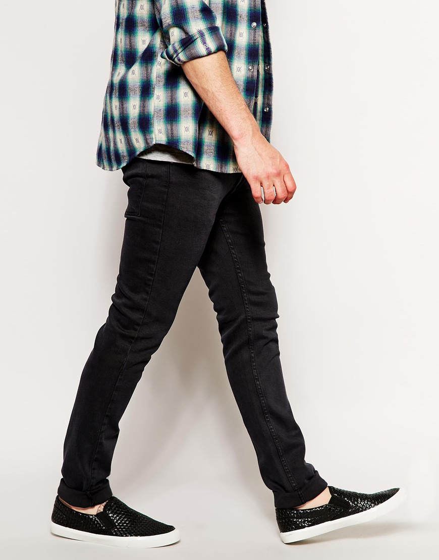 Cheap monday Skinny Jeans in Tight Fit in Black for Men | Lyst