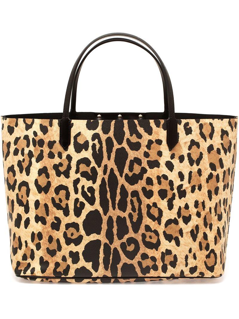 50b44c12a4 Lyst - Givenchy Leopard Print Antigona Shopping Bag in Brown