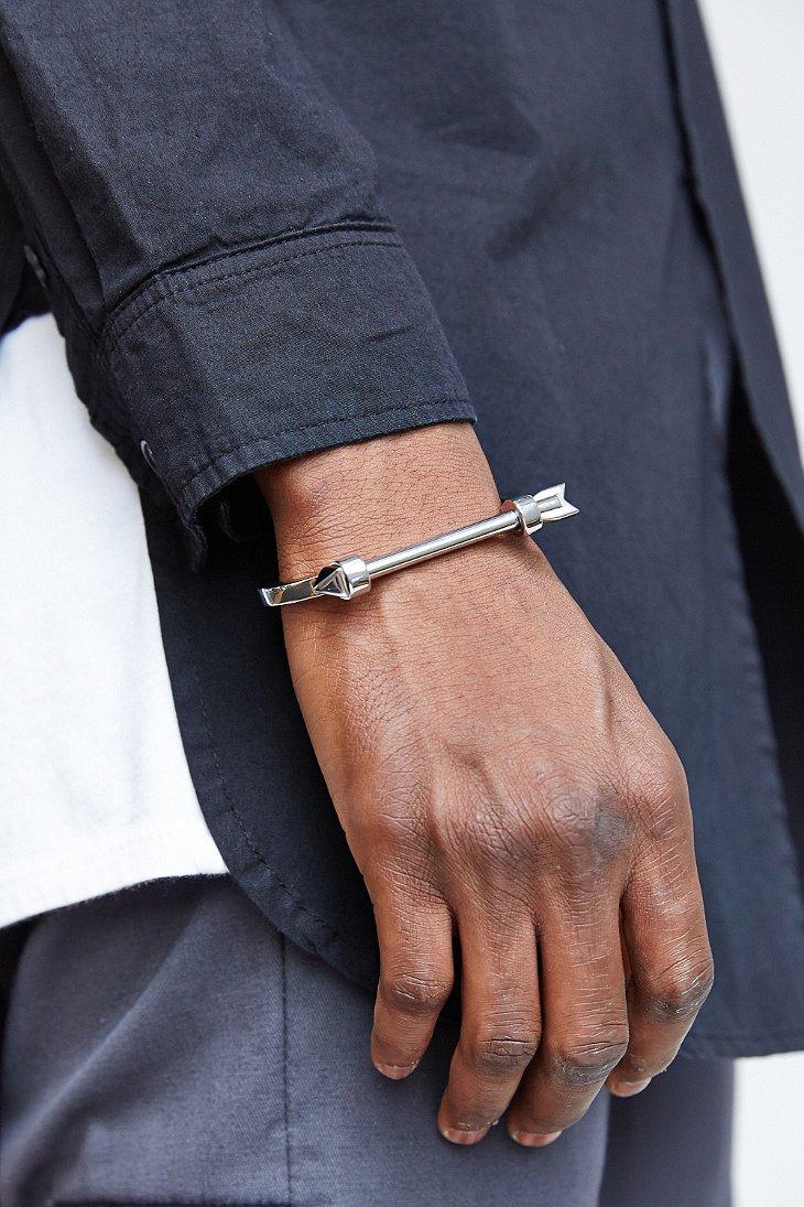 Mister Arrow Cuff Bracelet In Metallic For Men Lyst