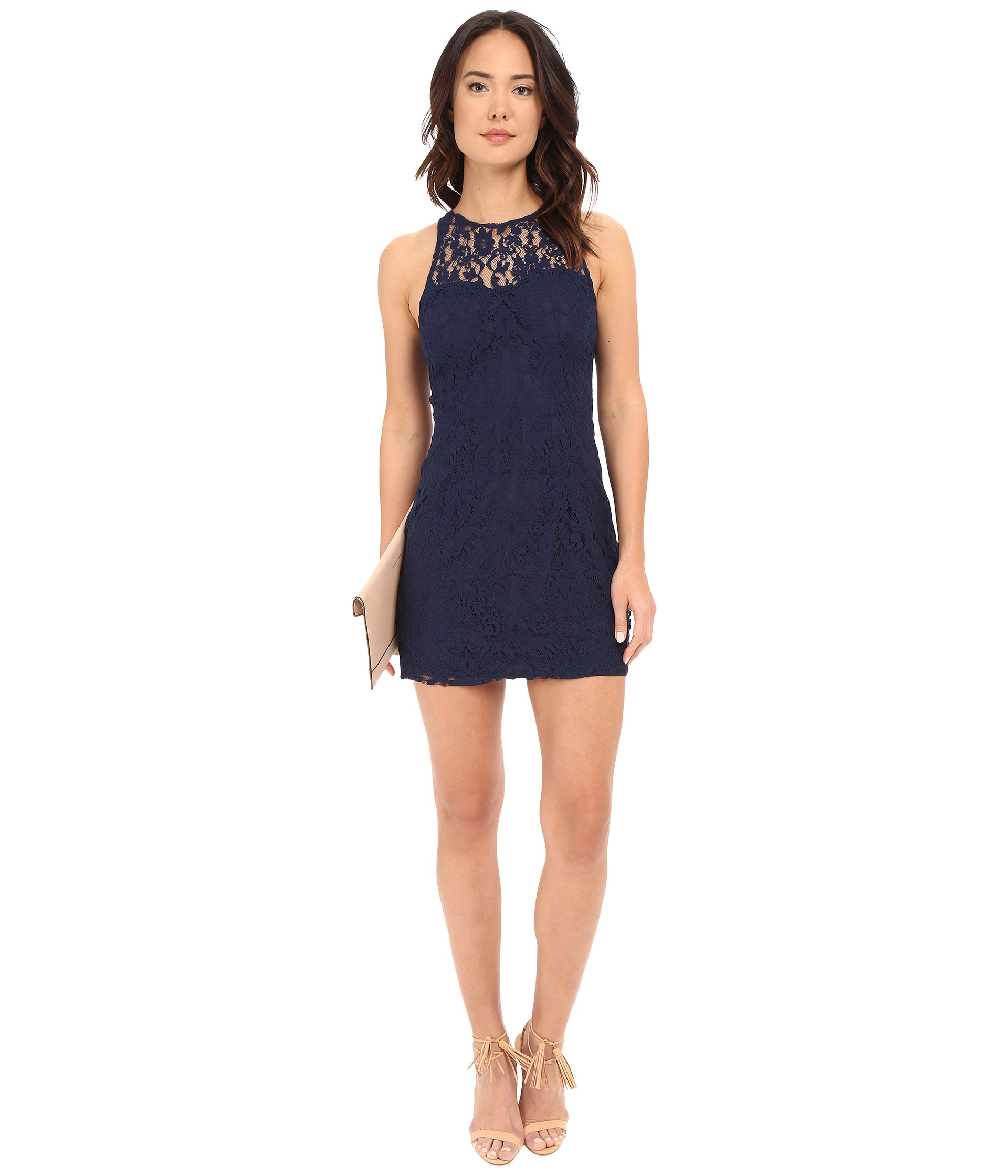 Bb dakota Larelle Sleeveless Lace Dress in Blue | Lyst