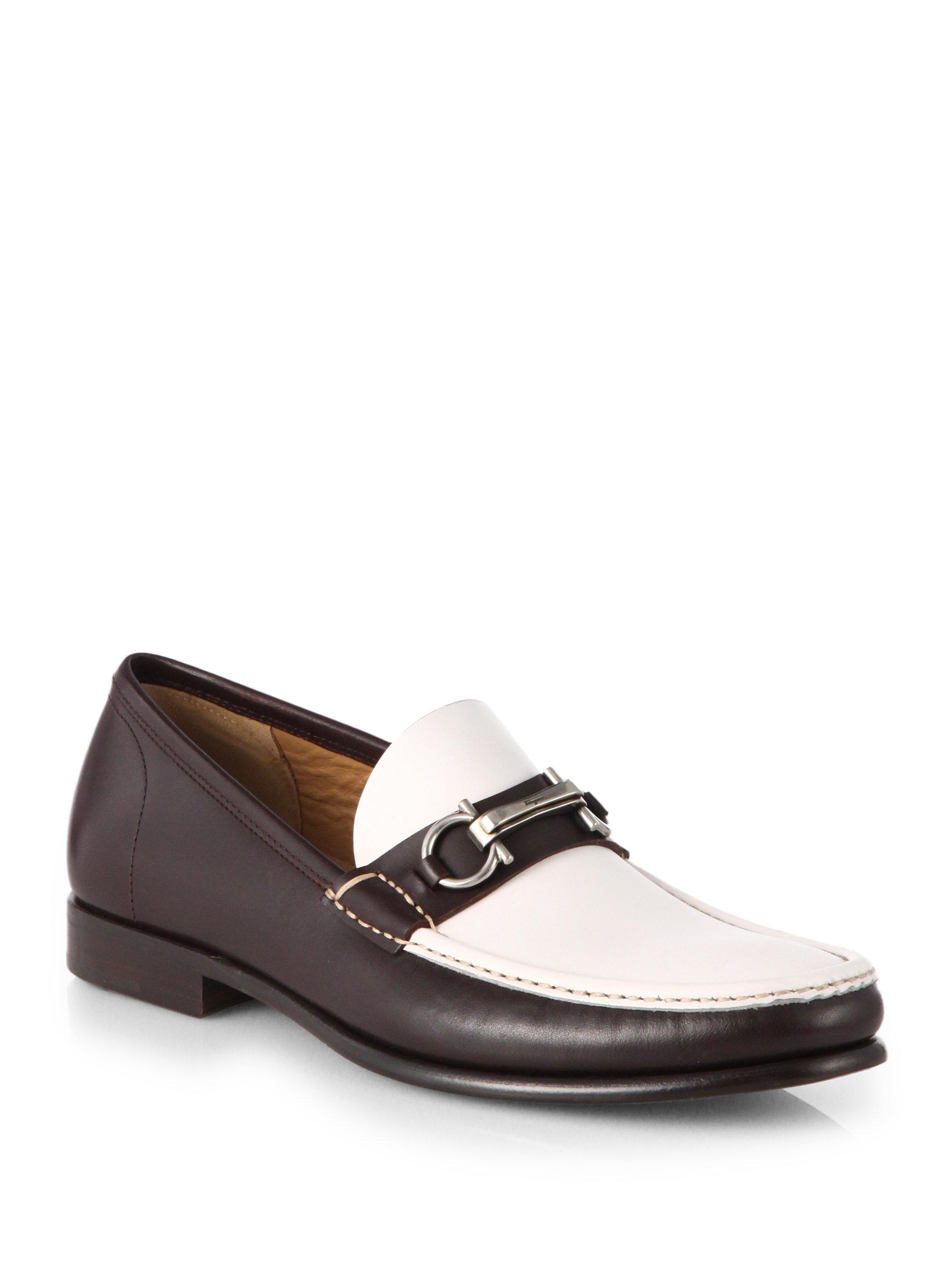 Lyst Ferragamo Raffaele Slip On Bit Loafers In Brown For Men