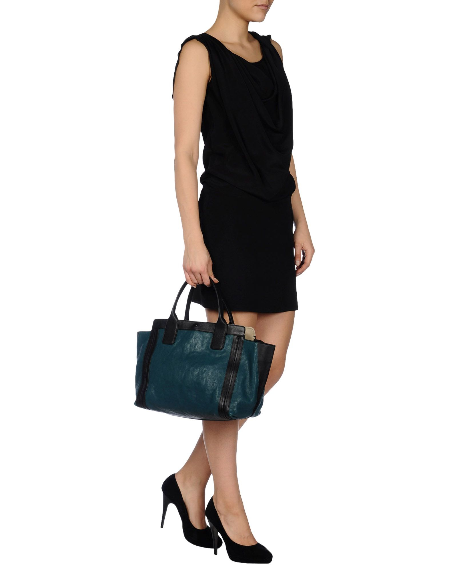 fake chloe bag - Chlo�� Large Leather Bag in Green (Deep jade) | Lyst