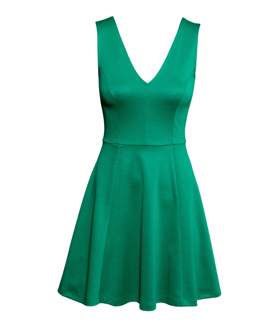 H Amp M Jersey Dress In Blue Lyst