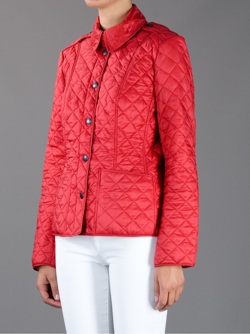 Burberry Brit Kencott Quilted Jacket In Red Lyst