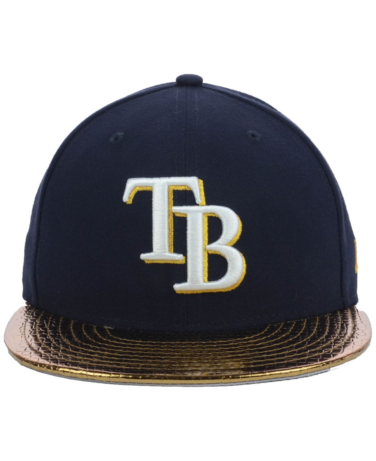 super popular 6087e b408a ... australia lyst ktz tampa bay rays mlb metallic slither 59fifty cap in  blue 6bf94 2c699