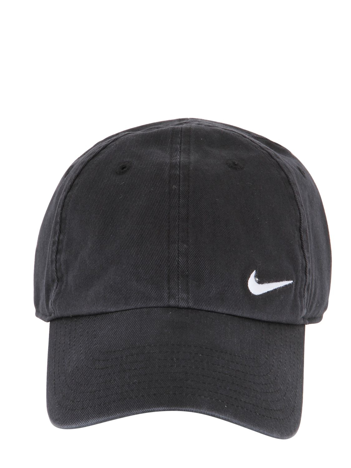 c8b9bf14b093 ... czech nike swoosh cotton baseball hat in black for men lyst d30f9 8083d