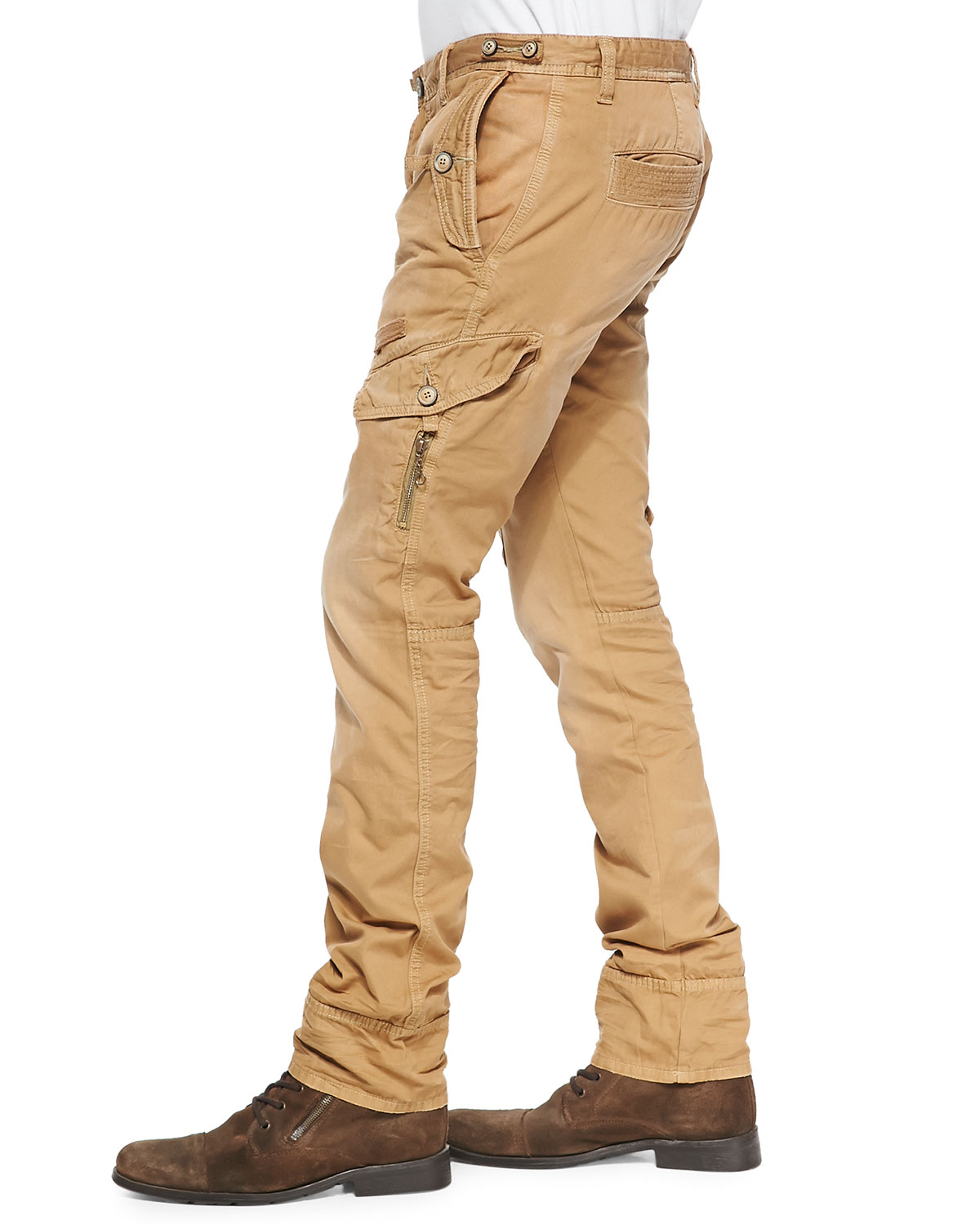 Prps Savoy Khaki Safari Cargo Pants in Natural for Men | Lyst