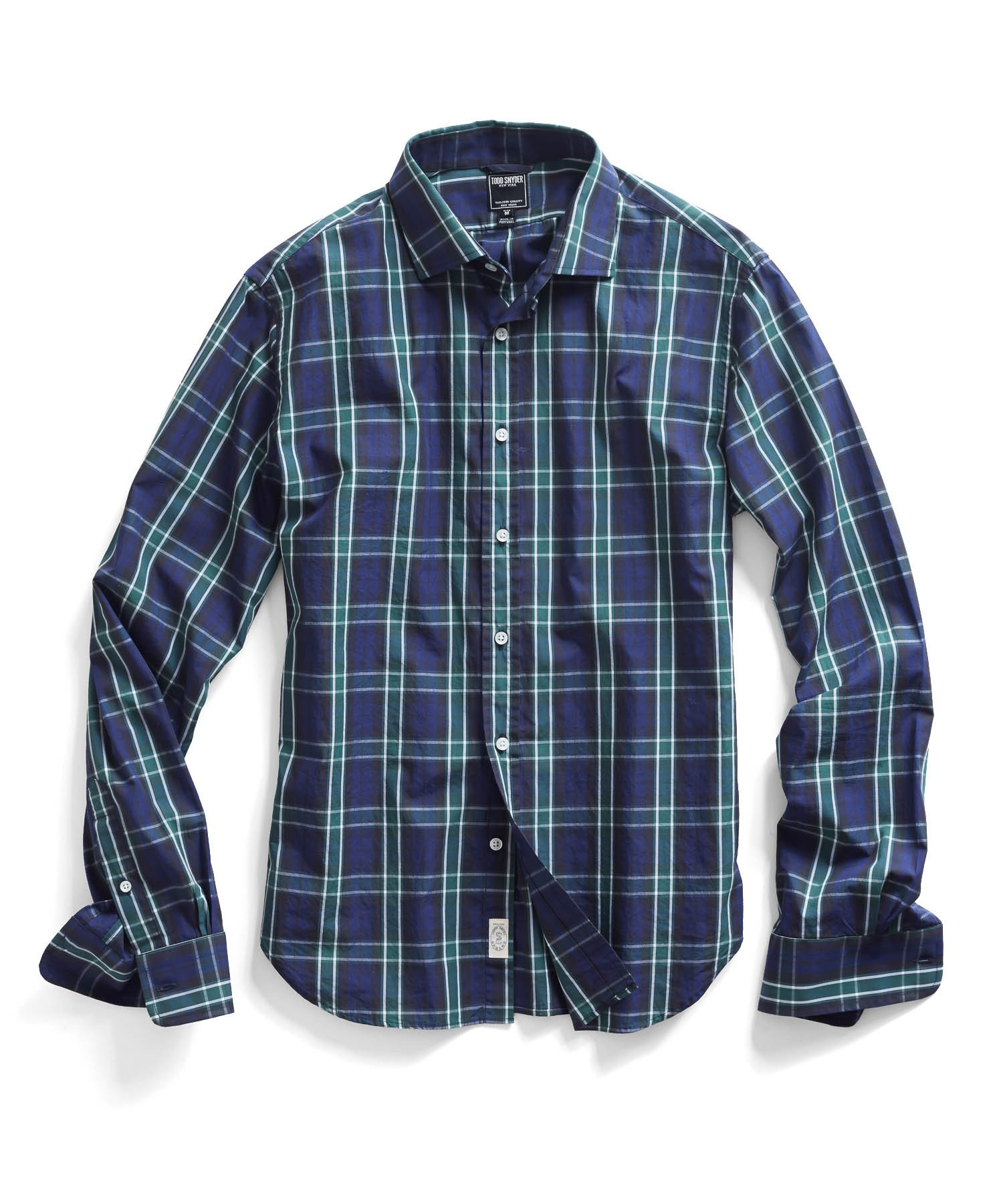 Todd Snyder Navy Plaid Shirt In Blue For Men Lyst