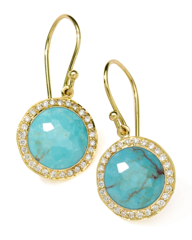 Ippolita Diamond Amp Turquoise Lollipop Earrings In Blue Lyst