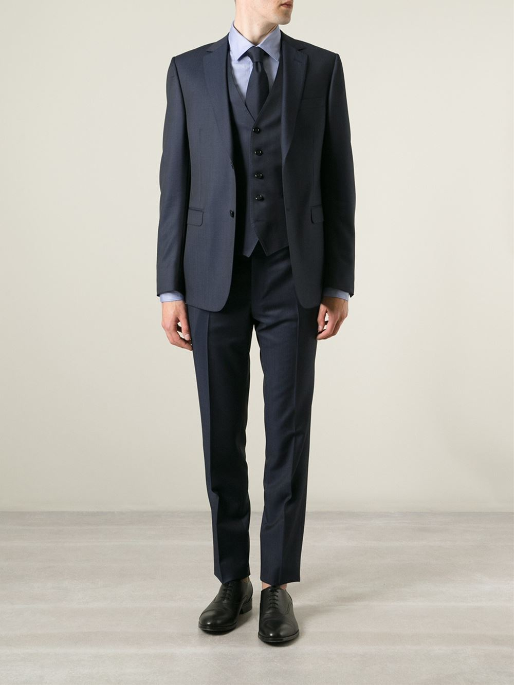17770b49 Lyst - Z Zegna Three Piece Suit in Blue for Men