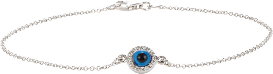 Ileana makri diamond white gold evil eye charm bracelet in gallery aloadofball Image collections