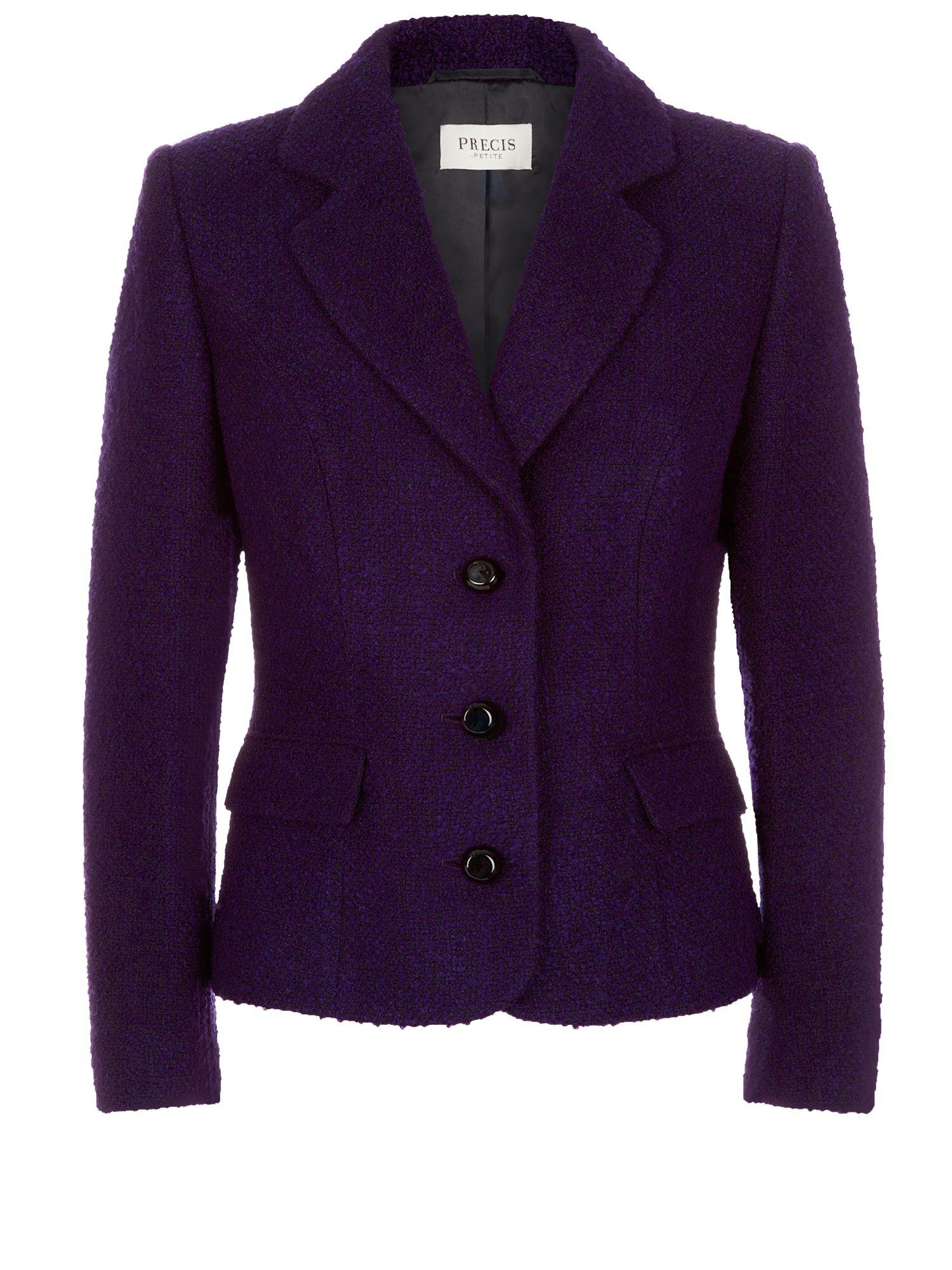 Lyst Precis Petite Purple Boucle Jacket In Purple