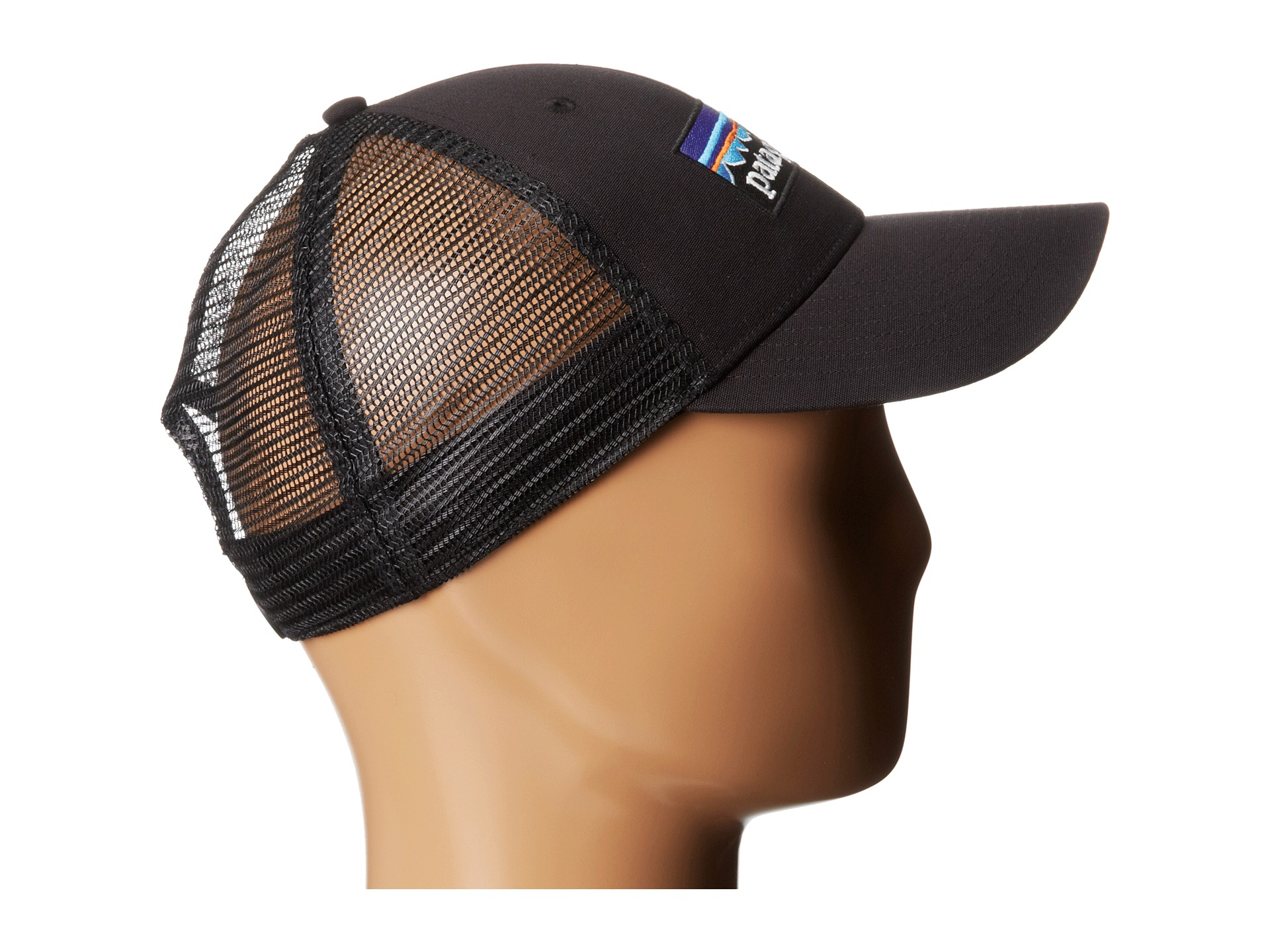 Lyst - Patagonia P6 Lopro Trucker Hat in Black 6b30b57cfb2