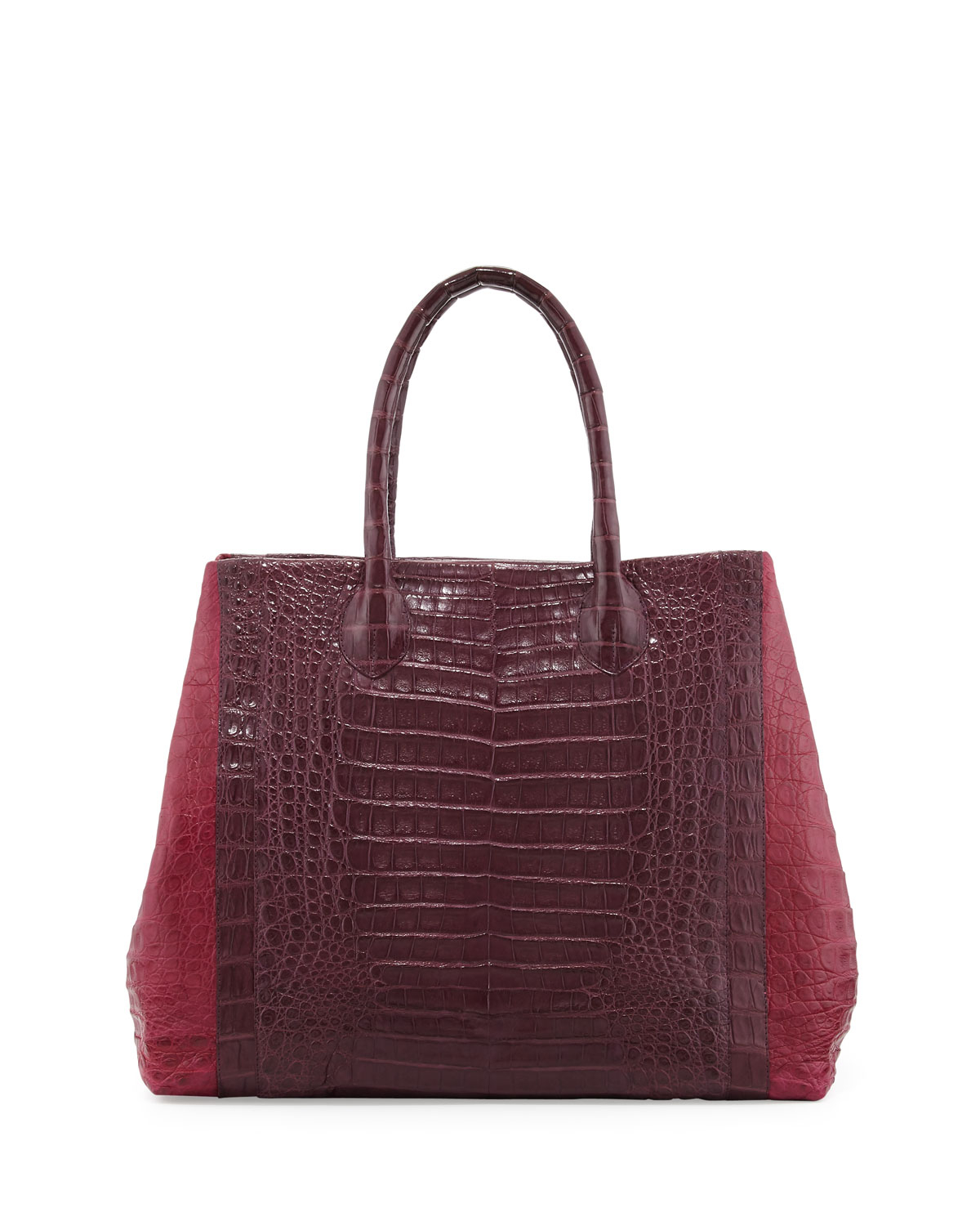 Nancy gonzalez large transformer crocodile tote in red for Nancy gonzalez crocodile tote