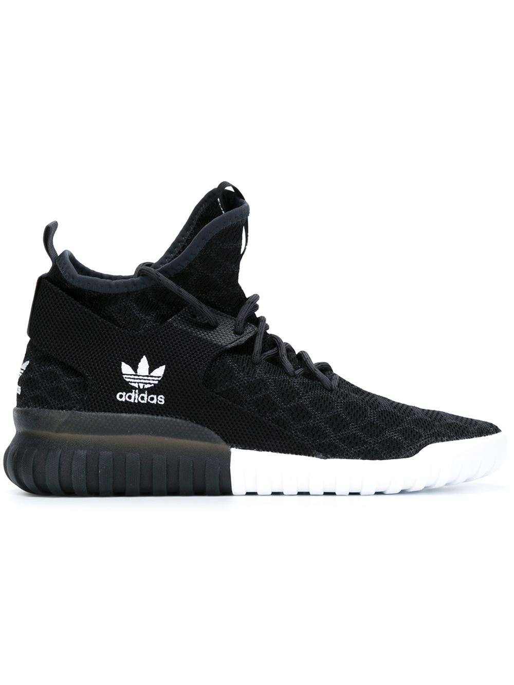 adidas originals 39 tubular x primeknit 39 sneakers in black for men lyst. Black Bedroom Furniture Sets. Home Design Ideas