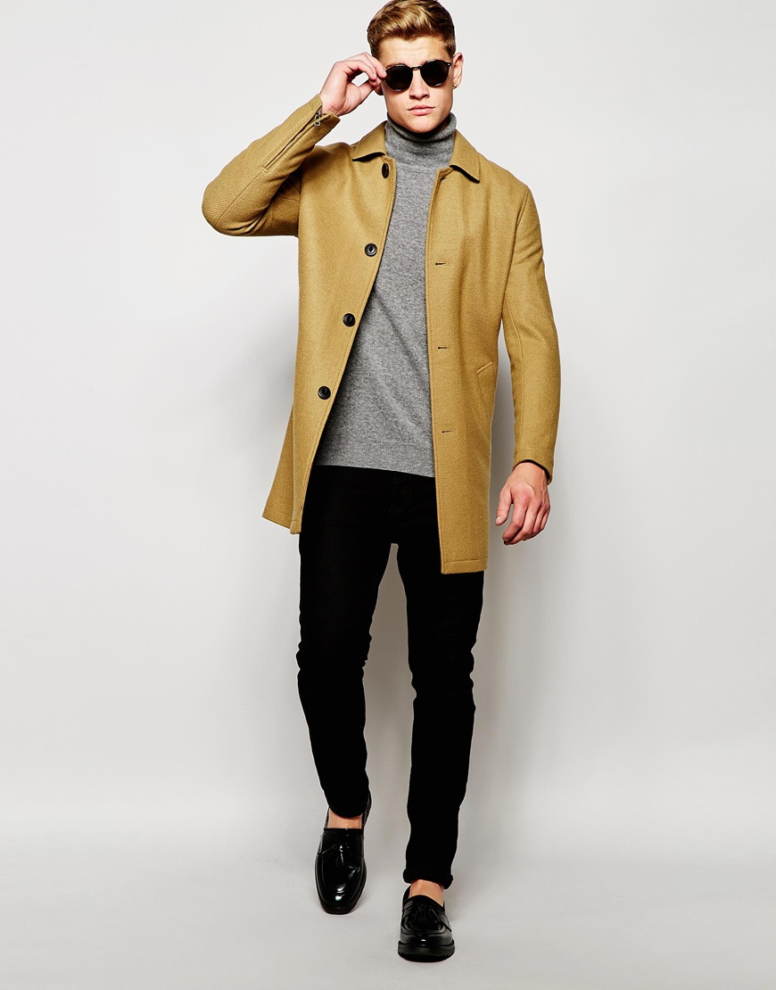 Mens short overcoat