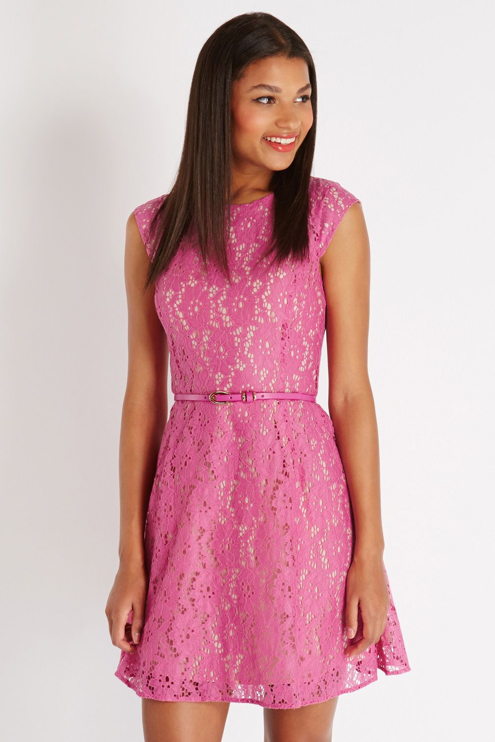 Cheap robe dentelle, Buy Quality women dress directly from China bodycon dress Suppliers: Spring Hollow Pink Lace Bodycon Dress Womens Dresses New Arrival Vintage Skater Dress Kleider Damen Robe Dentelle K Enjoy Free Shipping Worldwide! Limited Time Sale Easy Return/5(2).