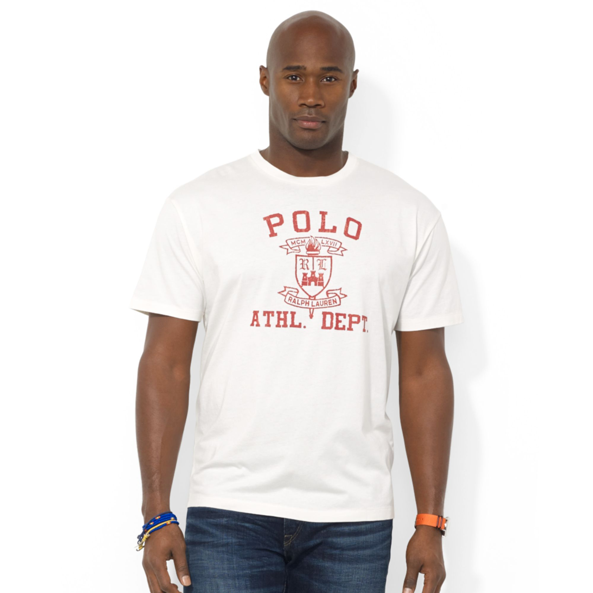 Ralph Lauren Polo Big And Tall Classicfit Crest Jersey