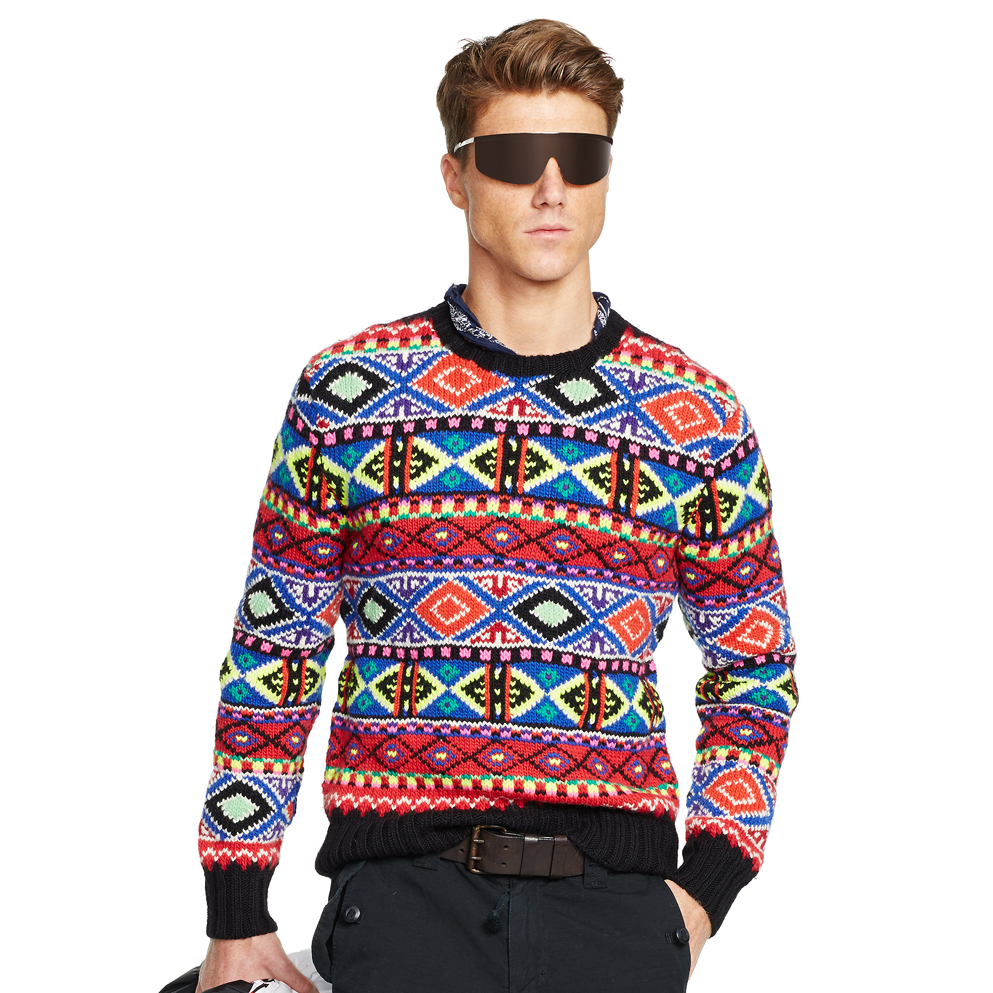 Ralph lauren Neon Fair Isle Sweater | Lyst