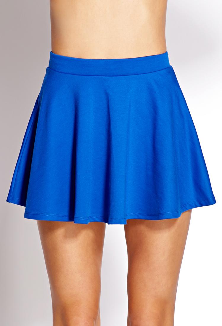 forever 21 musthave skater skirt in blue lyst