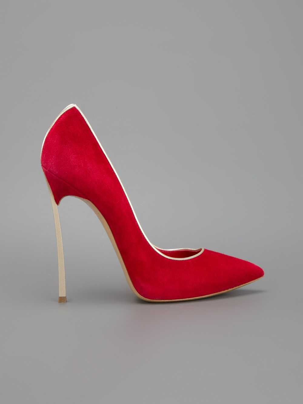 a0de39a250f Lyst - Casadei Contrast Stiletto Pump in Red