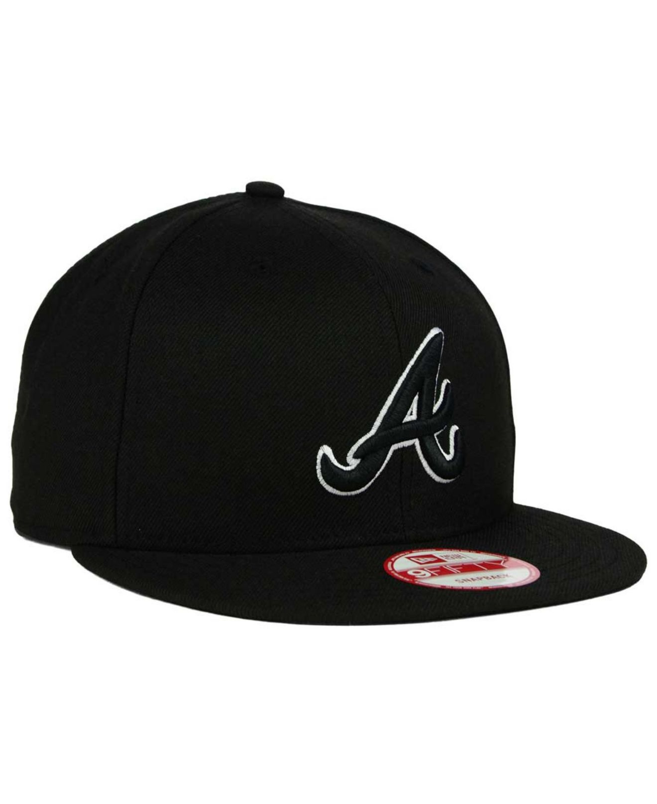 finest selection 8207f e25f8 ... discount code for lyst ktz atlanta braves b dub 9fifty snapback cap in  black for men ...