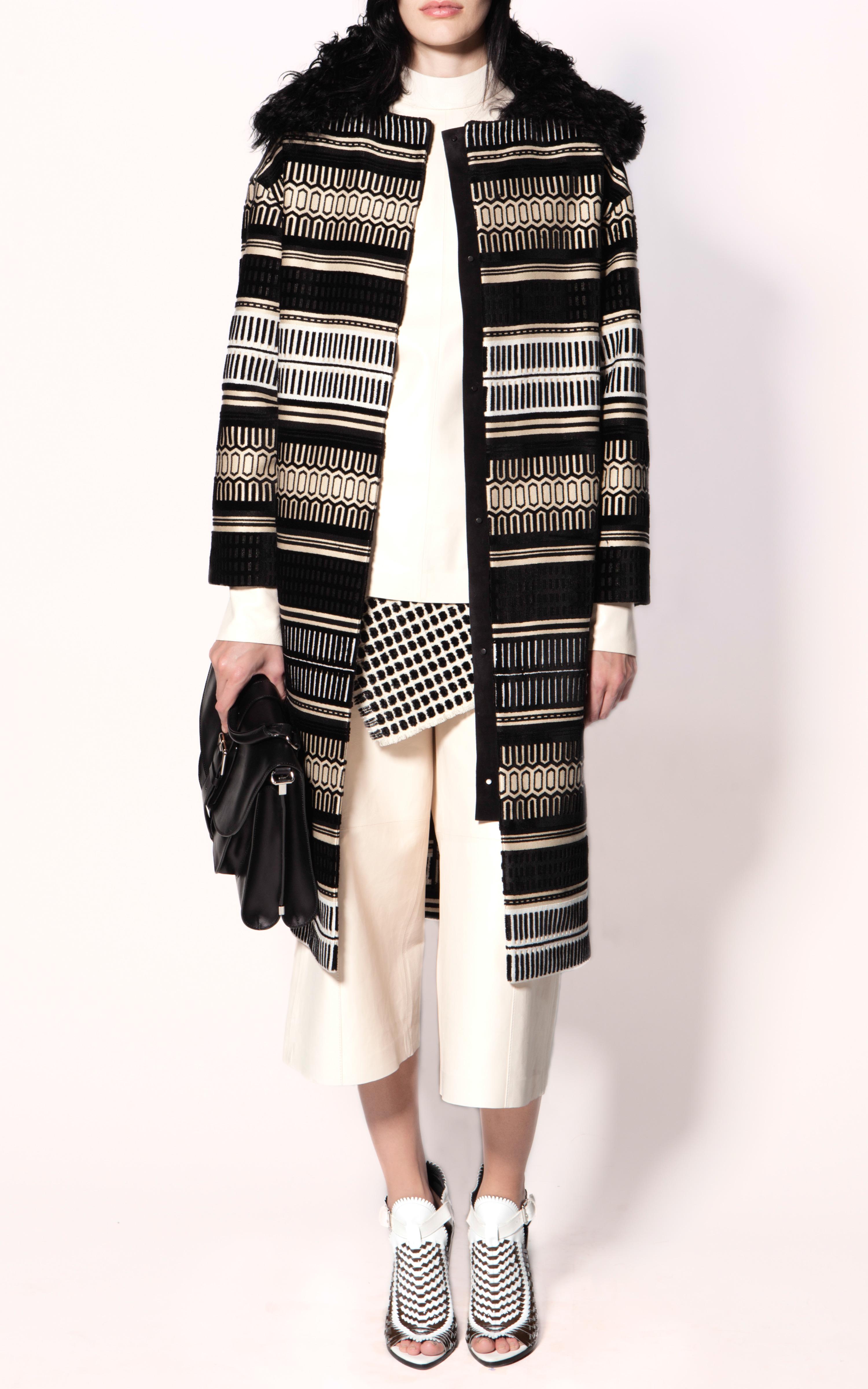a8c03742a1450 Lyst - Proenza Schouler Basket Weave Sandal in White
