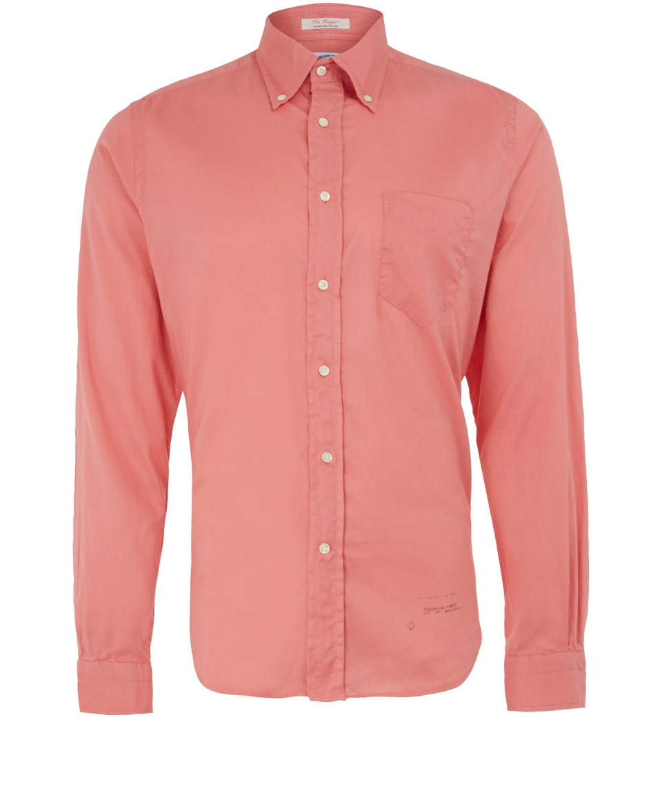 Gant Rugger Pink Button Down Oxford Cotton Shirt In Pink