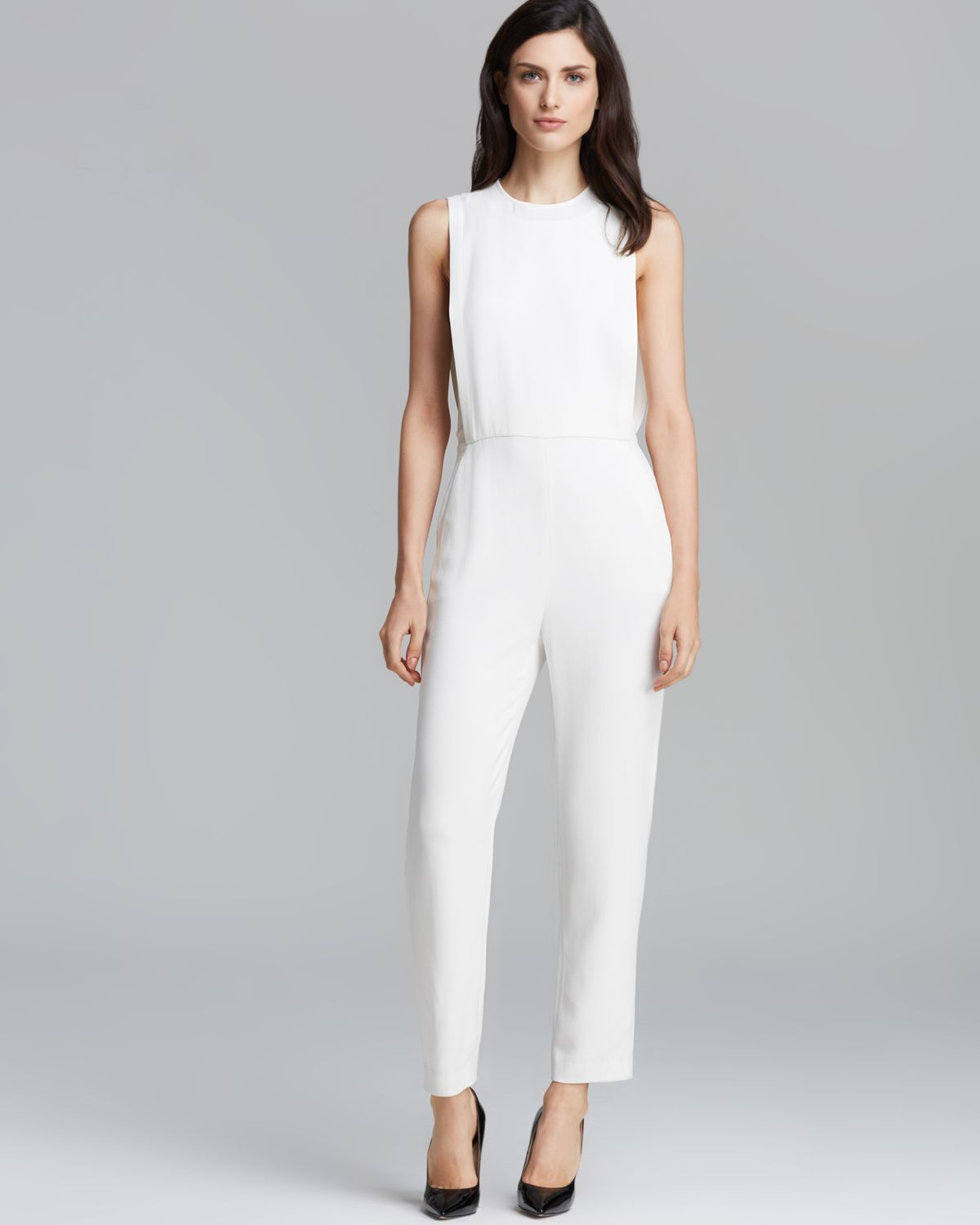 Theory Jumpsuit Remaline Spiaggia in White | Lyst