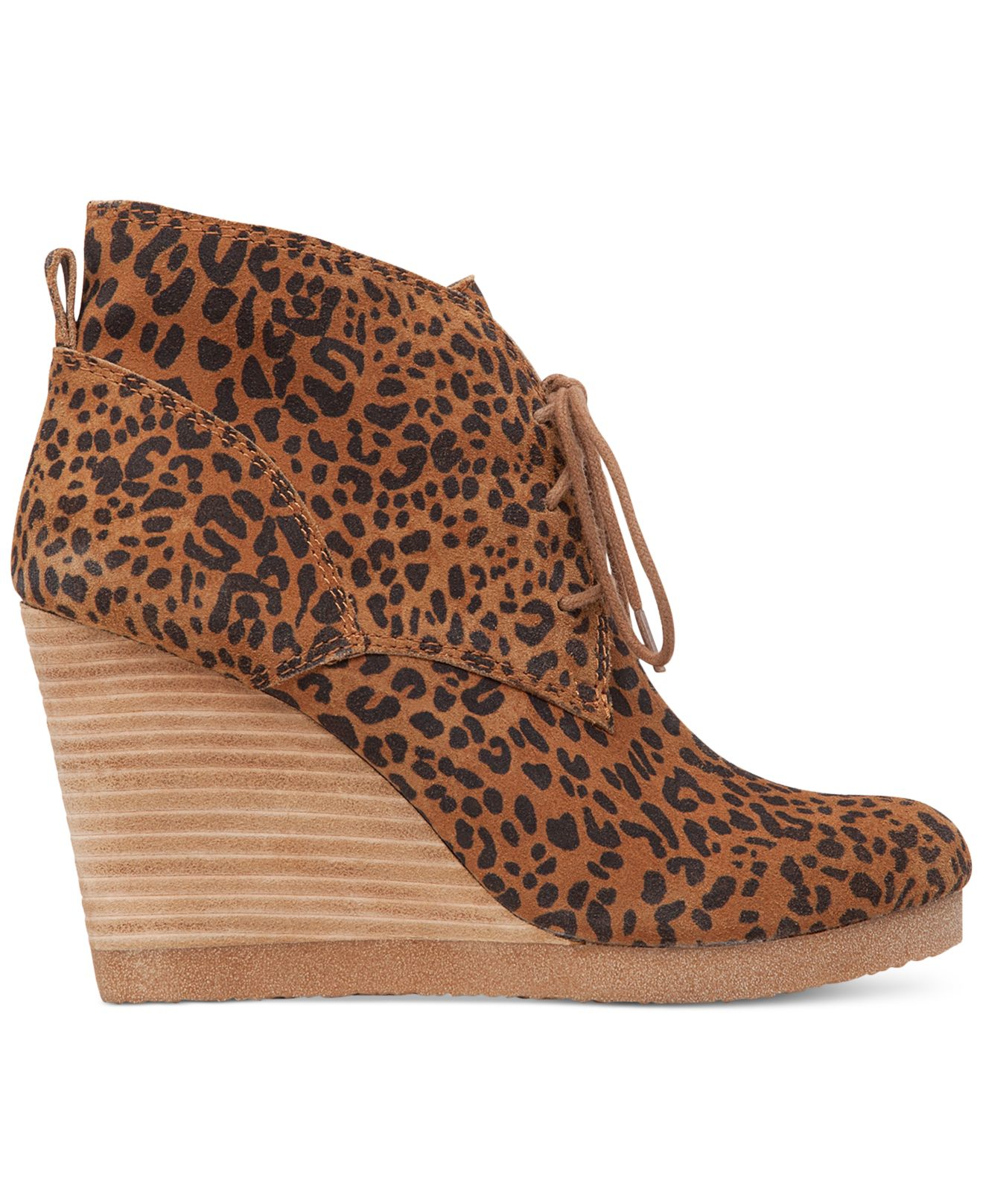 Lucky Brand Women S Taheeti Lace Up Wedge Booties In