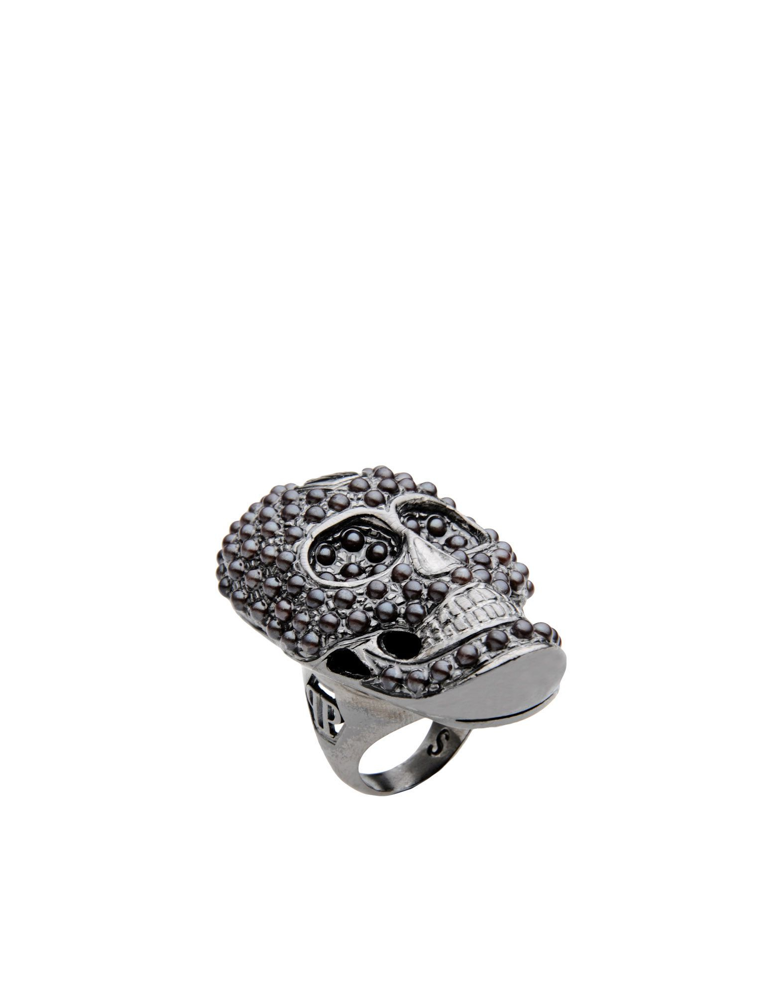 lyst philipp plein ring in gray