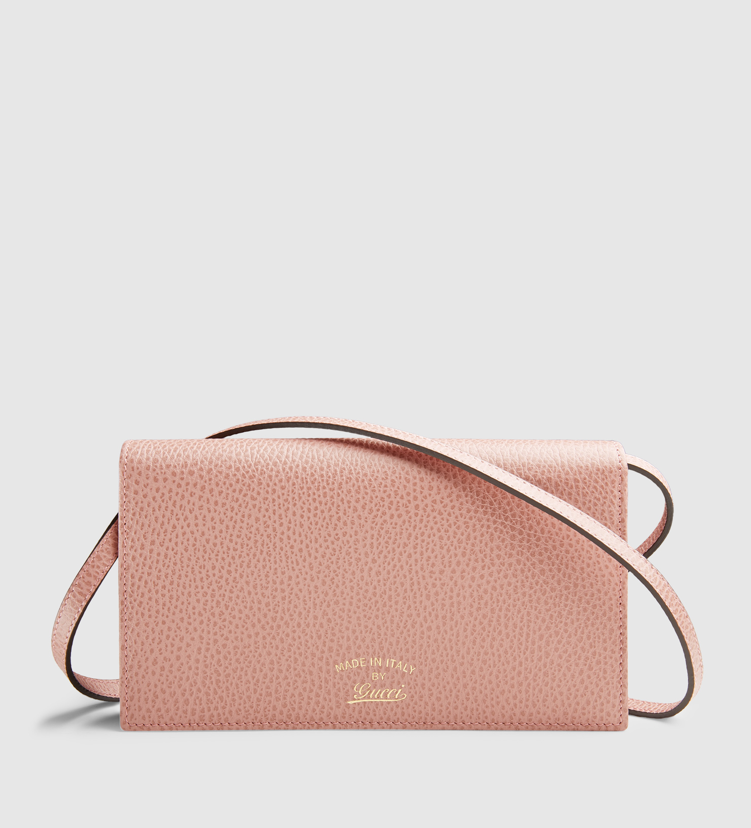 56fc66010d9e9d Gucci Swing Leather Wallet With Strap in Pink - Lyst