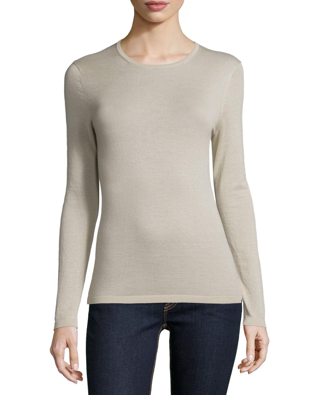 Marcus cashmere collection stone cashmere modern crewneck sweater