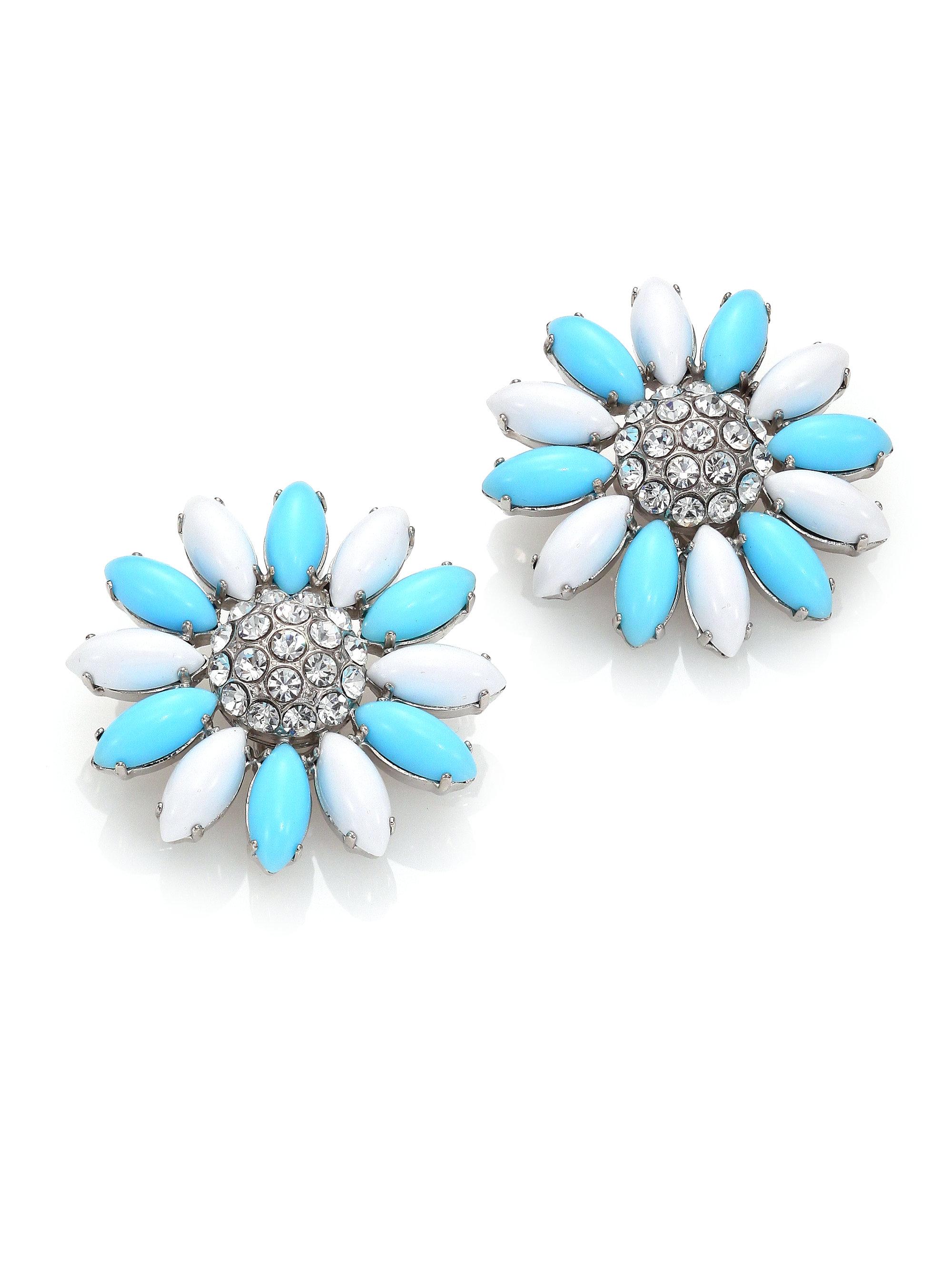 Daisy earrings with crystals - Multicolour Miu Miu Yr1sGiWSDk