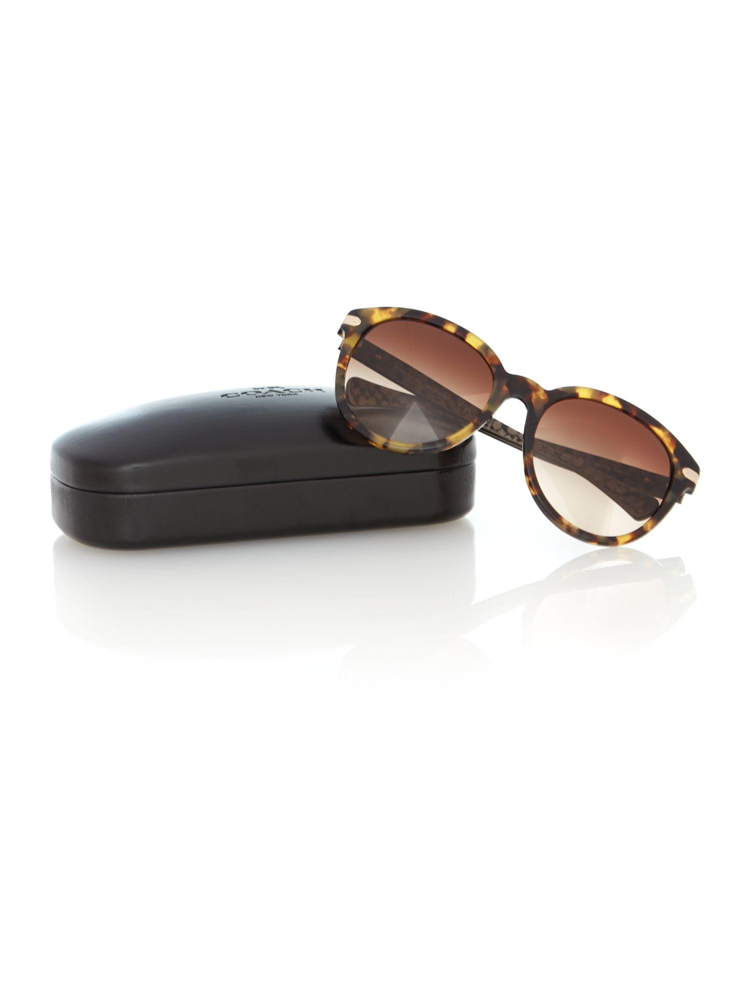 7ea50a2636ba8 ... ireland coach hc8140 round sunglasses in brown lyst 67c67 a489e