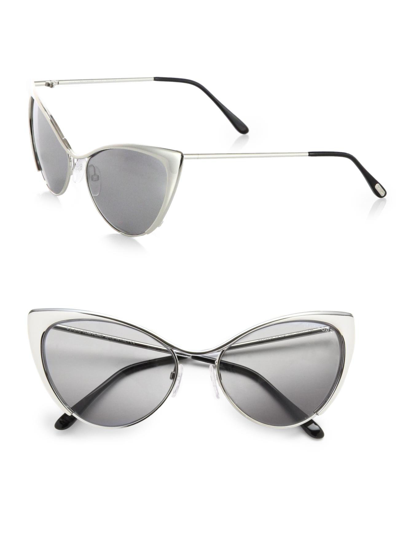 d366f5b1a69c Gallery. Previously sold at: Saks Fifth Avenue · Women's Tom Ford Cat Eye  Women's Leopard Sunglasses ...
