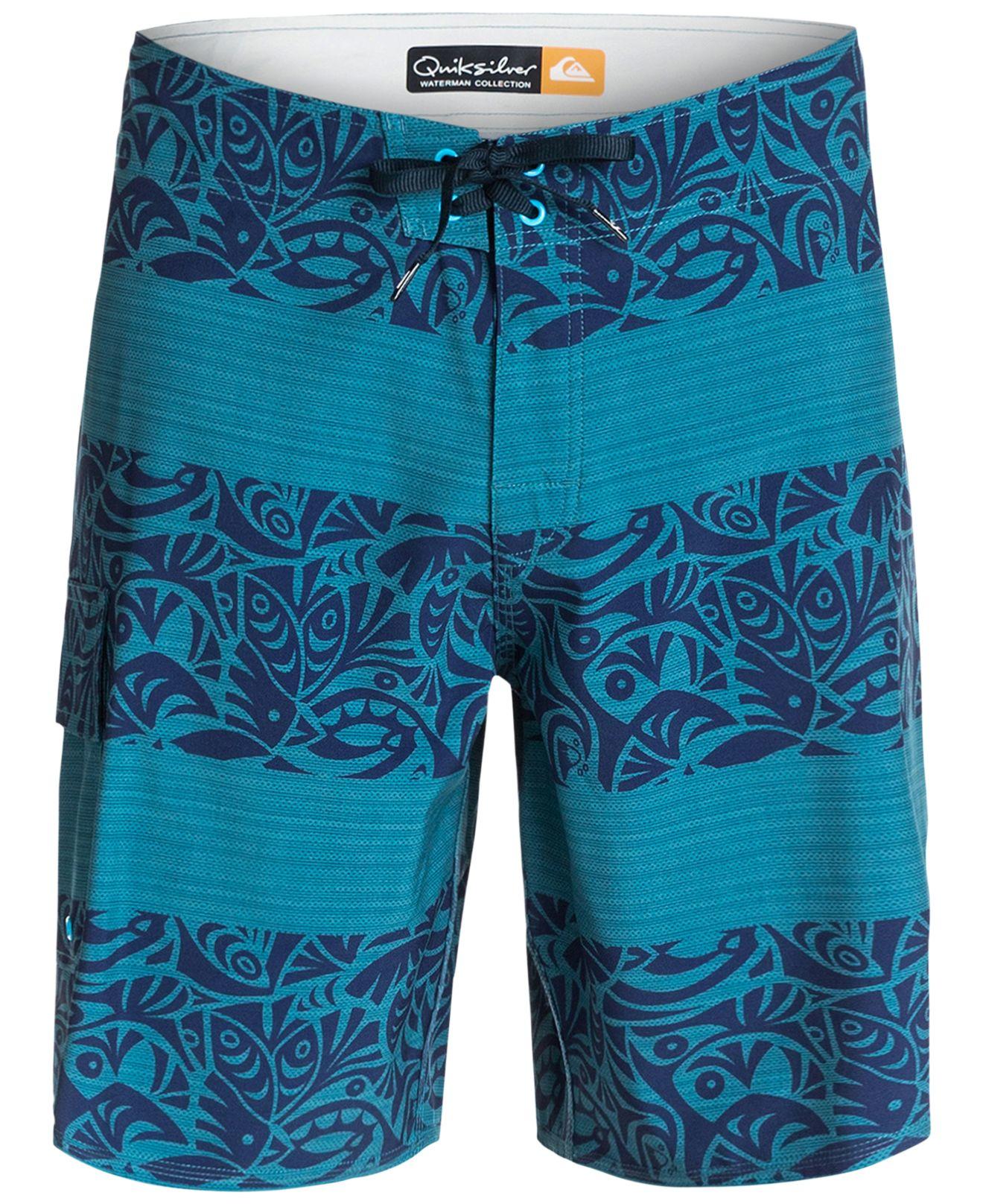 5bb732e156 Lyst - Quiksilver Waterman Parapa Swim Trunks in Blue for Men