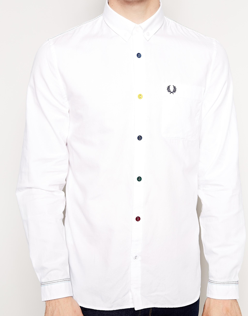 White Shirt Coloured Buttons | Is Shirt