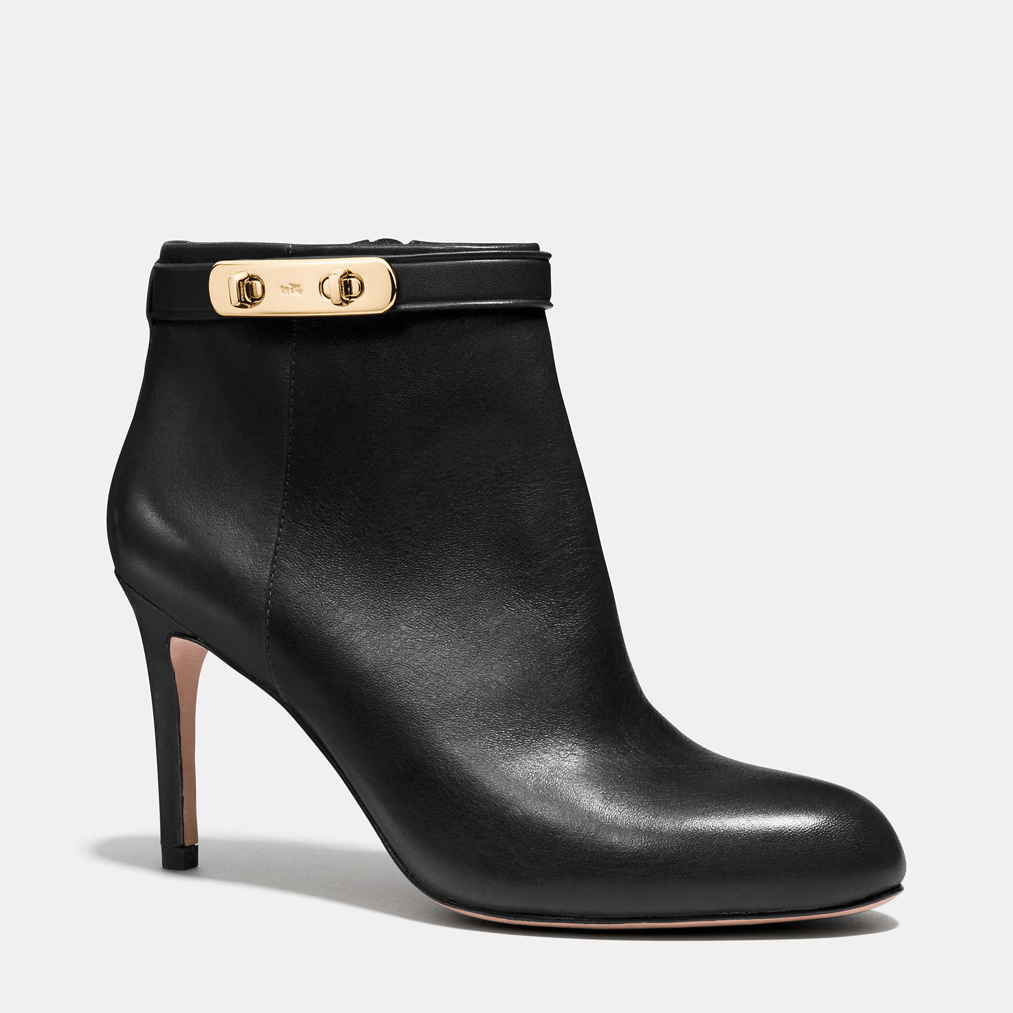 coach leather ankle boots in black lyst