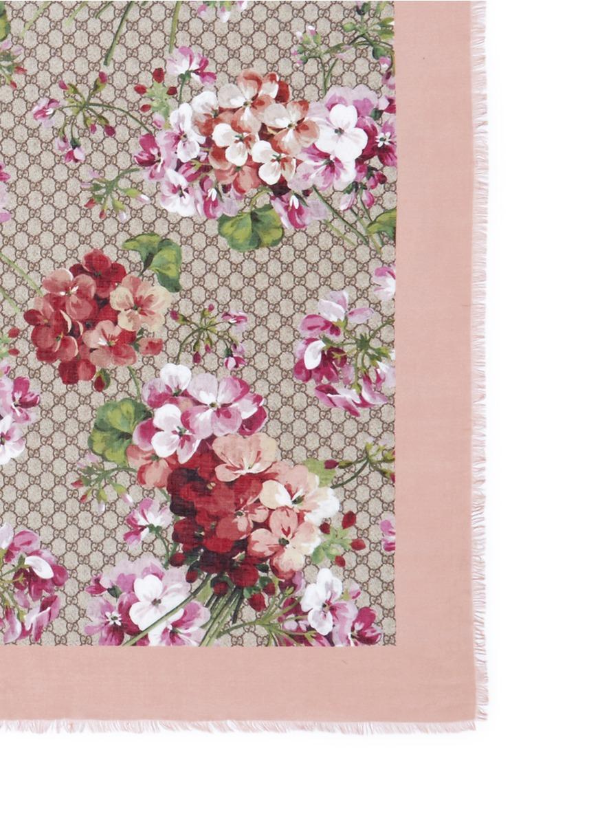 Floral-print silk scarf Gucci H3NbjnJnE