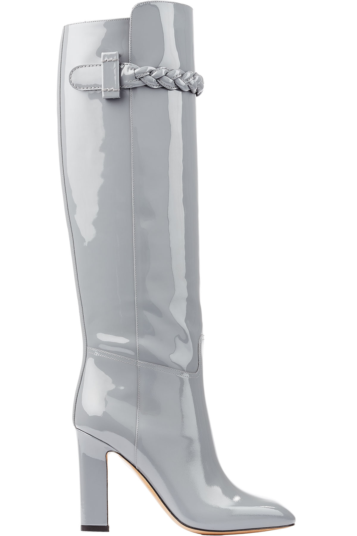 7941a384dea Valentino Tbc Knee-high Patent Leather Boot - Grey in Gray - Lyst