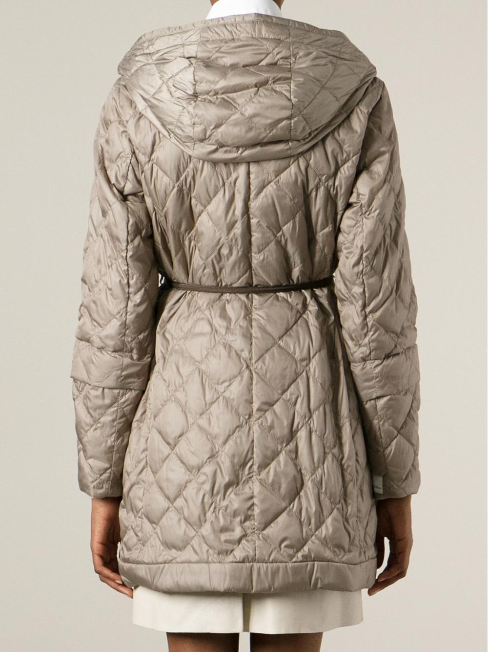 Lyst - Max mara Padded Coat in Natural : max mara quilted jacket - Adamdwight.com