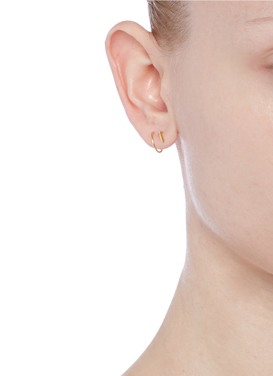 Maria Black 14 Karat Helix Twirl Earrings in Metallics JzoZUpP