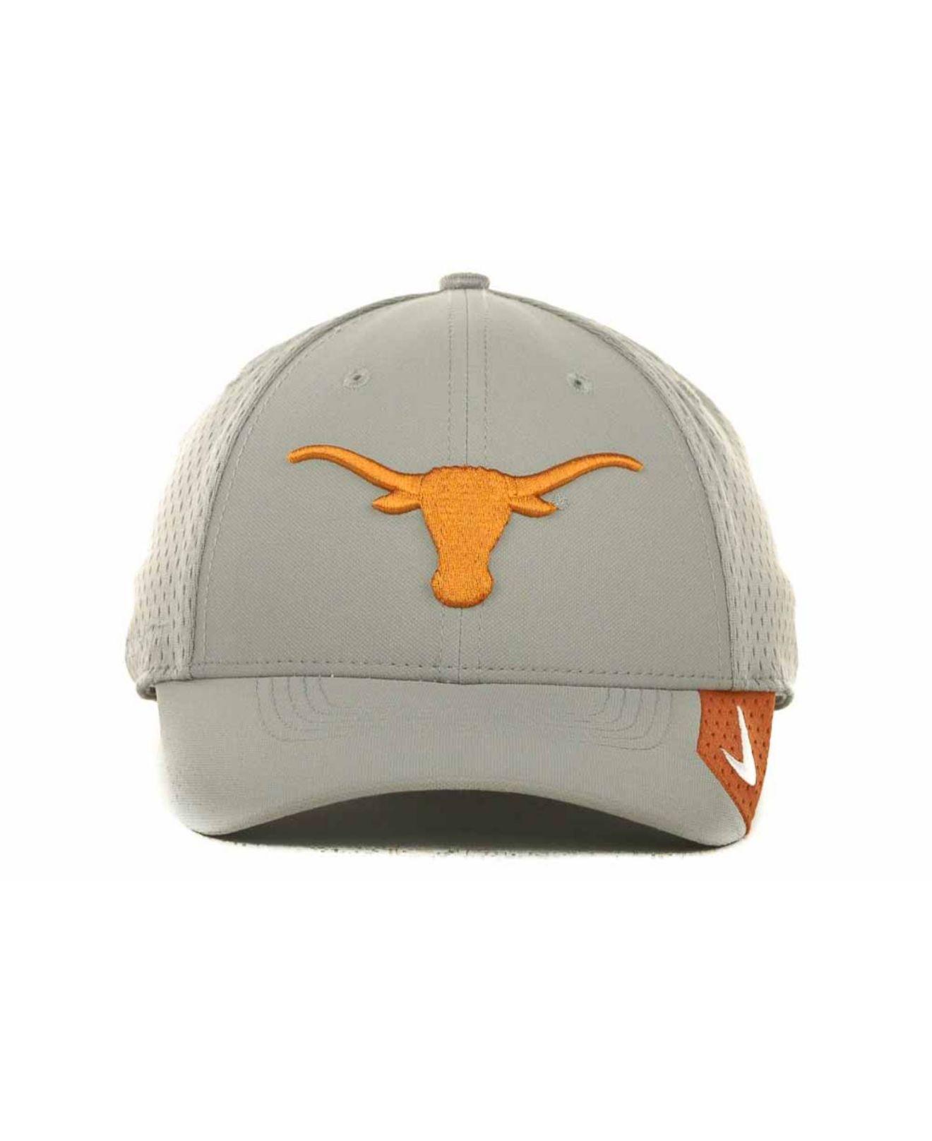 best service 35baa 7f636 ... discount lyst nike texas longhorns mesh swooshflex cap in gray for men  b77ac 08c32