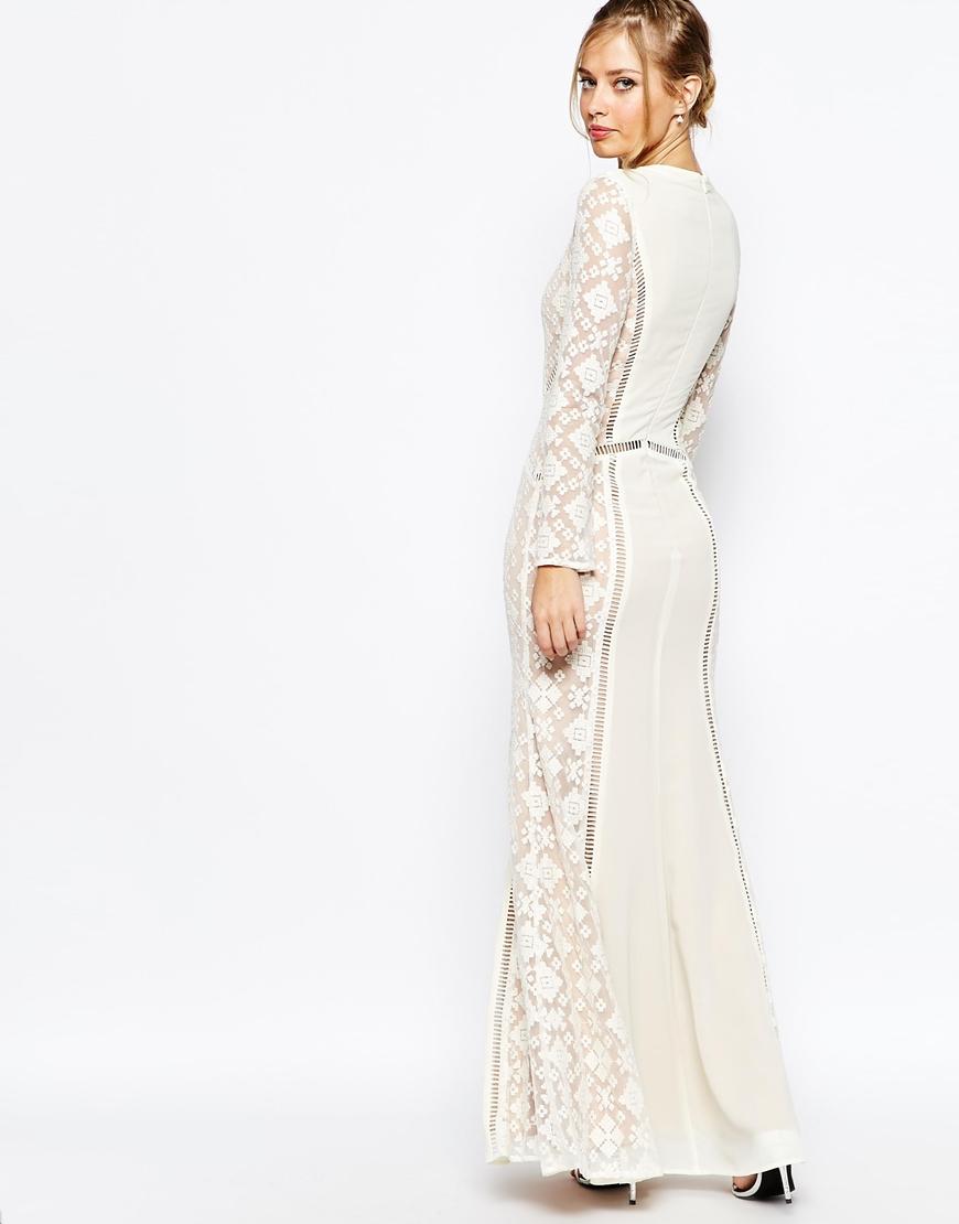 95980c9770db8 Long Sleeve Cream Lace Maxi Dress - Photo Dress Wallpaper HD AOrg