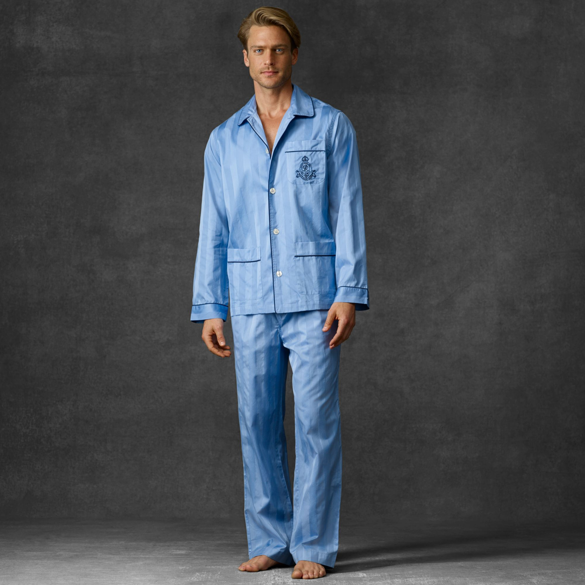 lyst polo ralph lauren cotton pajama set in blue for men. Black Bedroom Furniture Sets. Home Design Ideas